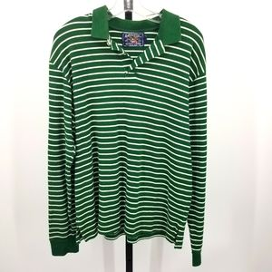 American Living Polo Long Sleeve Stripe Collar Top